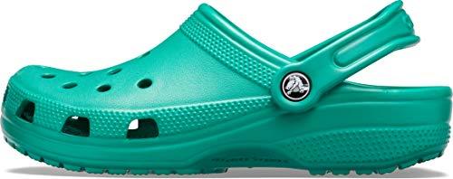 Crocs Classic, Zuecos Unisex Adulto, Verde (Deep Green), 37/38 EU