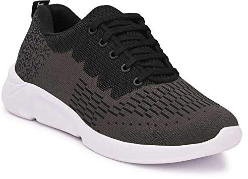 HEALTH FIT Orthopedic & Diabetic Sports Shoes Breathable Soft Sole Ultra-Lightweight Running/Walking Sports Shoes for Men's -BKGY