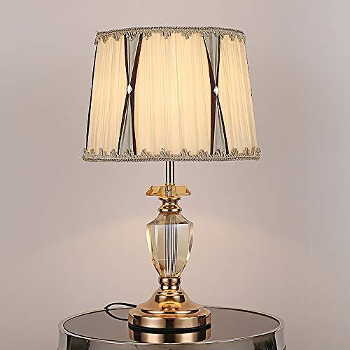 Stella Fella Moderna lámpara de mesa de cristal de estilo europeo para sala de estar, dormitorio, mesita de noche, 30 x 52 cm