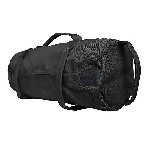 MDSTOP Bolsa de Arena de Levantamiento de Pesas de Lona Ajustable con 4 Bolsas internas para el Entrenamiento de Fuerza en Interiores, Pesas para Hacer Ejercicio, Yoga(Negro, 18'x 7'x 7')