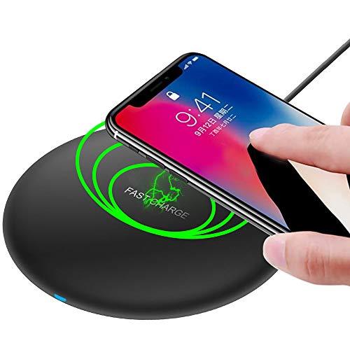 MMOBIEL Draadloze QI Oplader - 5W / 7.5W / 10W (zwart) Compatibel met QI Smartphones