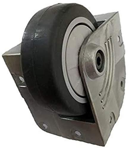 ZJDU Wheels for furniture 3 inch aluminum alloy bracket air box silent rubber corner wheel with bearing wheel diameter 75mm industrial caster