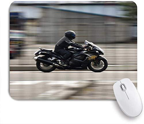 HUAYEXI Stoff Mousepad,Motorrad Suzuki Motorräder fliegen auf den Straßen,Rutschfest eeignet für Büro und Gaming Maus