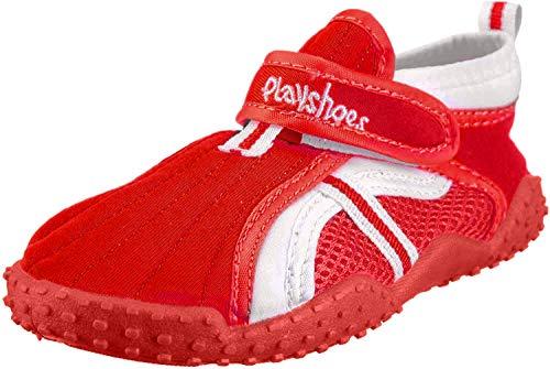 Playshoes Souliers de Sports Aquatiques avec Protection UV Sportif, Chaussures pour Piscine et Plage Mixte Enfant, Rouge (Rot 8), 30/31 EU