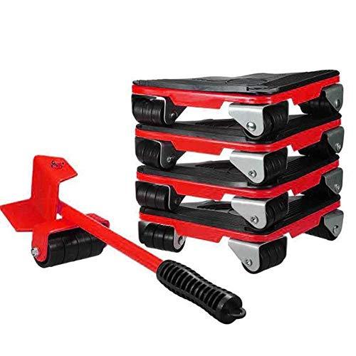 Cursor robusto de herramienta de movimiento de muebles, elevador de muebles, herramienta de movimiento de rollo de muebles, rotación de 60 grados, carga máxima de 450 kg / 990 lb