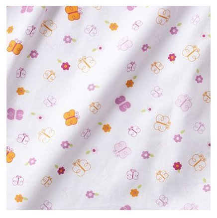 Tiddliwinks Sweet Safari Fitted Sheet in White/Pink by Kidsline