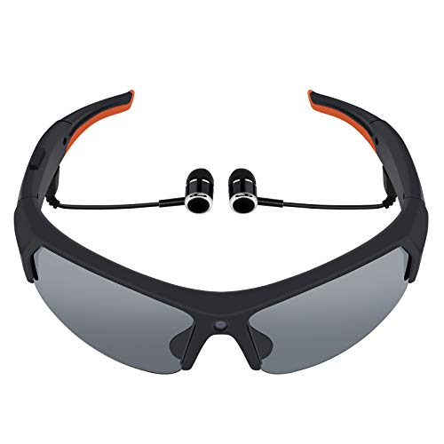 Bluetooth Camera Sunglasses Built-in 32GB Memory Card Full HD 1080P Video Recorder with Polarized Lens Effectively Prevent Ultraviolet Rays for Driving Riding Fishing and Outdoor Sports