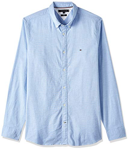 Tommy Hilfiger Herren CORE Stretch Slim Oxford Freizeithemd, Blau (Shirt Blue 474), XXX-Large