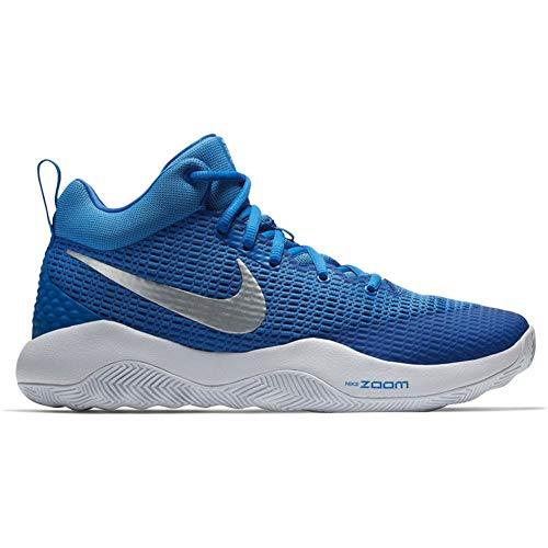 Nike Men's Zoom REV TB Basketball Shoe (5.5 M US, Royal Blue/Metallic Silver-White)