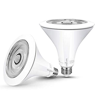 Sengled Smartsense LED Flood Light with Motion Sensor & Daylight Sensor, Motion Activated Bulb PAR38, Dusk to Dawn Bulb, Waterproof 3000K Warm White for Indoor and Outdoor use (3rd Gen), 2 Pack