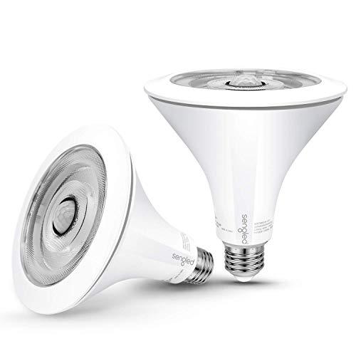 Sengled Motion Sensor Light Outdoor / Indoor, Dusk to Dawn LED Outdoor Lighting, Flood Light PAR38 Photocell Motion Sensor, Waterproof, 3000K 1300LM, 2Pack