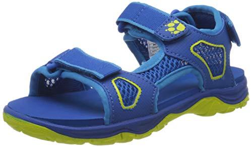 Jack Wolfskin Unisex-Kinder TARACO Beach K Sport Sandalen, Blau (Blue/Lime 1176), 37 EU