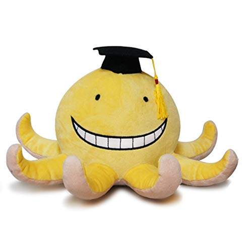 Enhopty Classroom Plush Toy Funny Octopus Koro Sensei Stuffed Plushie Doll for Anime Fans Kids 11.8in
