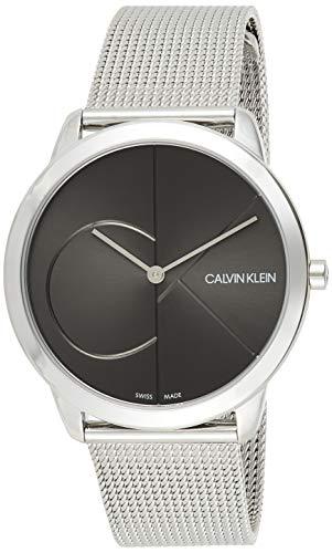 Calvin Klein Herren Analog Quarz Uhr mit Edelstahl Armband K3M21123