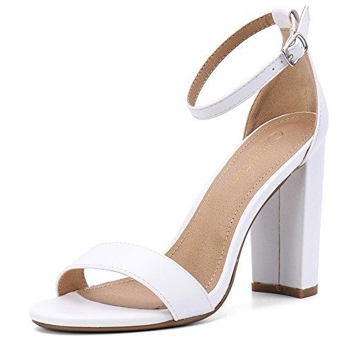 Women's High Chunky Block Heel Pump Dress Sandal $19.79 (40% Off with code)