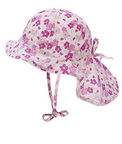 Döll Baby-Mädchen Nackenschutz Sonnenhut, Rosa (Fuchsia Pink|Pink 2023), (Herstellergröße: 49)