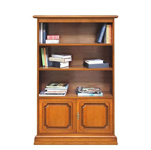 Arteferretto Bibliothèque Petite Hauteur 164 cm avec 2 Portes et étagères