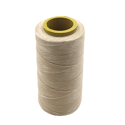 ZXHAO 150D/1mm Hand-stitched Leather Diy Flat Wax Line Handmade Leather Sewing Thread Light Khaki