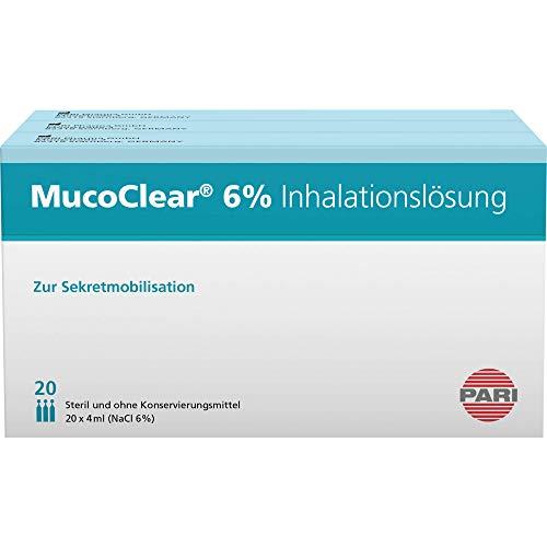 MucoClear 6{880a9fc21de82faa000fa20984afd89ecd11d1a9a17bfbcea6679ab950283c3a} NaCl Inhalationslösung, 60 St. Ampullen