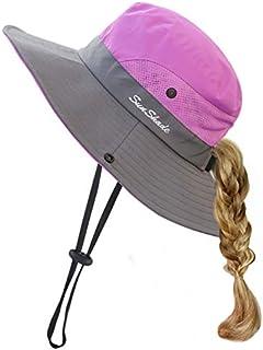 HGGE Kids Girls Sun Hat UV Protection Wide Brim Beach Cap...