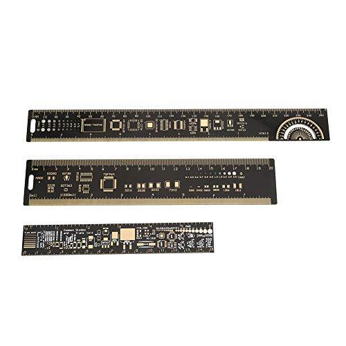 Regla de PCB, medidor de medición de PCB, multifuncional para ingenieros electrónicos Herramienta de medición Entusiastas de la electrónica Accesorio de placa de circuito impreso