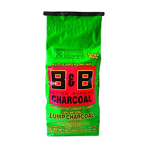 B&B Charcoal Organic Hickory Lump Charcoal 20 lb. - Case of: 1