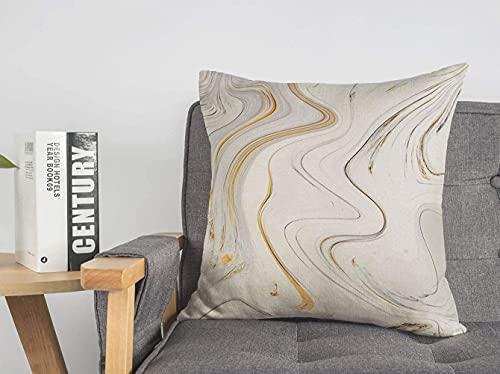 Funda de almohada decorativa de lino, rojo, negro, blanco, gris, con diseño de tinta de mármol, puede pelar la pared, lujosa pintura azul abstracta, detalle líquido, funda de cojín cuadrada suave par