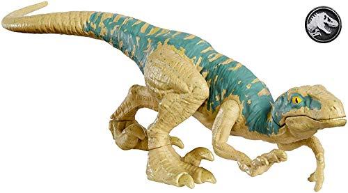Jurassic World Dinosaurios de Ataque, Velocirráptor Echo, dinosaurio de juguete (Mattel GFG60)