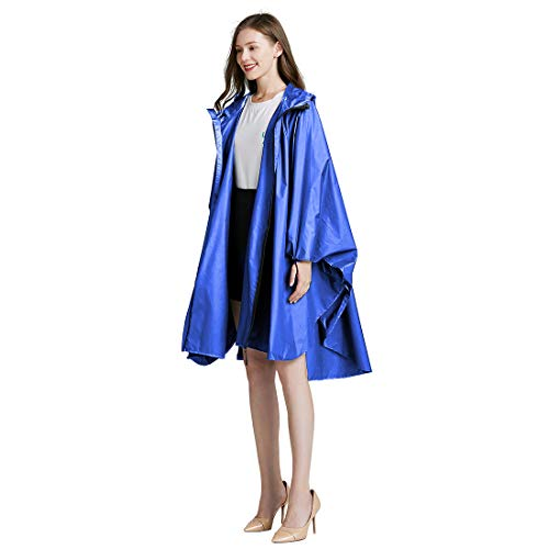 Anyoo Poncho de Lluvia Reutilizable Ripstop Transpirable Ligero Impermeable Ideal para Exteriores