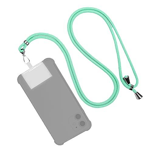 EUROXANTY Cordón para Móvil Universal   Colgante para móvil   Cuerda ajustable para colgar el móvil   Correa de Fácil instalación   Con TPU invisible   (Turquesa)