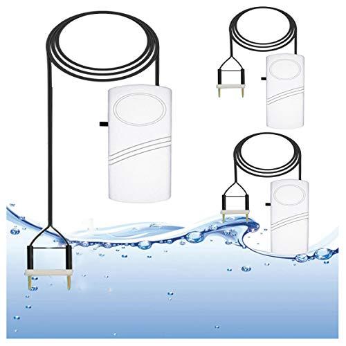 XZHFC Detector De Fugas De Agua Detector De Desbordamiento De Alarma con Sensor De Fugas con 120dB Sirena Batería Operada para Uso Doméstico 3PCS-5 Meter
