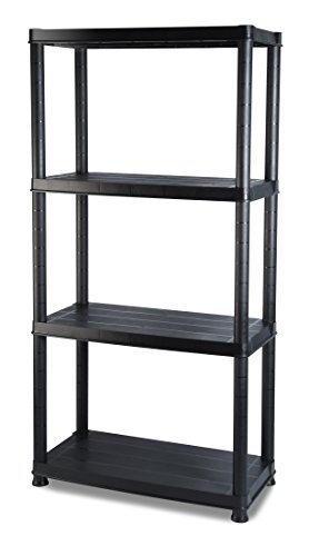 Addis 4 Shelf Storage, Black, 12'