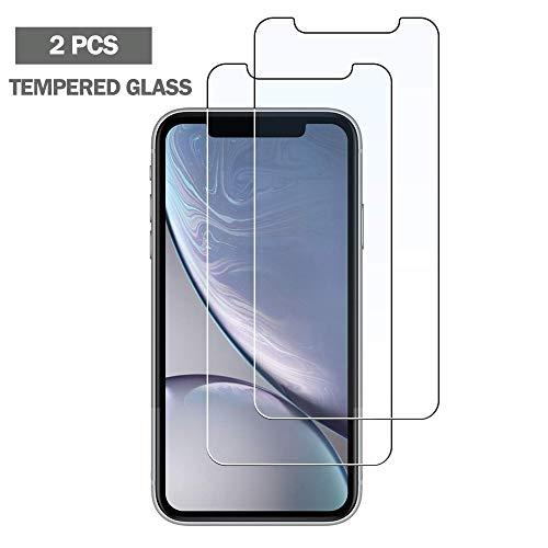 NHSCDZ Film temperato Vetro Protettivo Trasparente 2Pack HD per iPhone XR 8 7 6 6S Plus Vetro temperato per iPhone 5 5S SE 4 SX XS Max Pellicola Protettiva per Schermo, per iPhone XR, 1 pz