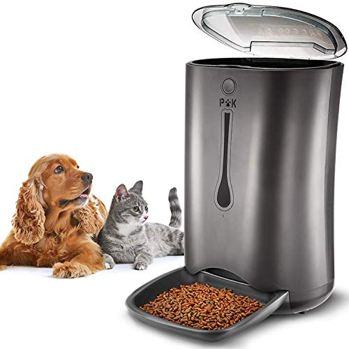 PUPPY KITTY 6.5L Automatic Pet Feeder for Cats & Dogs, Up to 4 Meals a Day Automatic Pet Food...