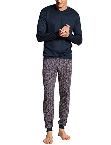 CALIDA Herren Relax Streamline 3 Bündchen Pyjamaset, Dark Sapphire, 52-54