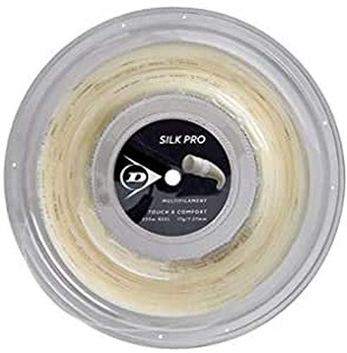 Dunlop Unisex– Erwachsene 624812 Tennis String Silk Pro 200m Rolle 127mm 1Stück, Natural, One Size