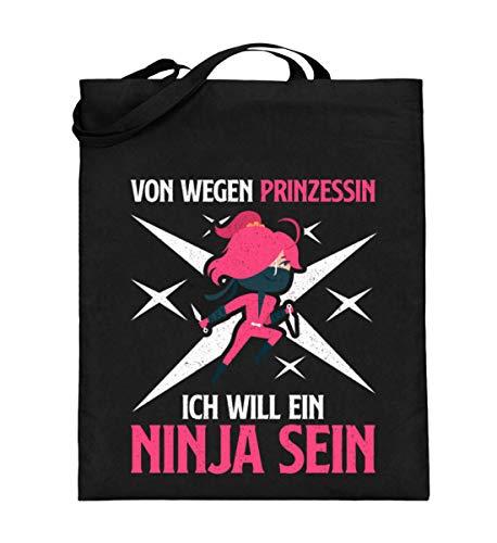 Chorchester Ninja Statt Prinzessin - Jutebeutel (mit langen Henkeln)