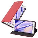 Cadorabo Coque pour Samsung Galaxy A7 2016 en Rouge DE Pomme – Housse Protection avec Fermoire Magnétique, Stand Horizontal et...