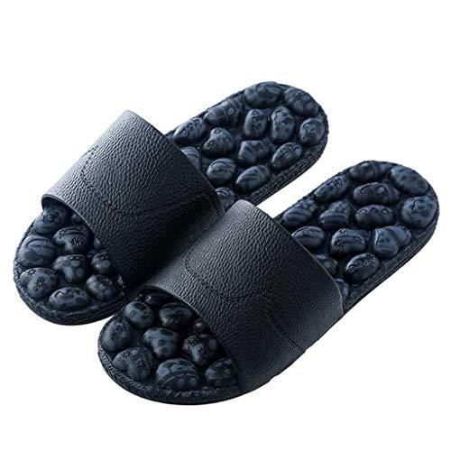 WYBFZTT-188 Masaje de pies Zapatos del Punto de acupuntura circulación Mejorar la Pierna pies Dolor Cuidado de los pies Masaje de relajación Zapatillas (Size : 38-39)