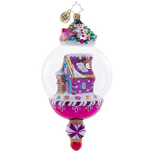 Christopher Radko Hand-Crafted European Glass Christmas Decorative Figural Ornament, Candy House World