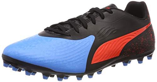 Puma Herren ONE 19.4 MG Fußballschuhe, Blau (Bleu Azur-Red Blast Black), 43 EU