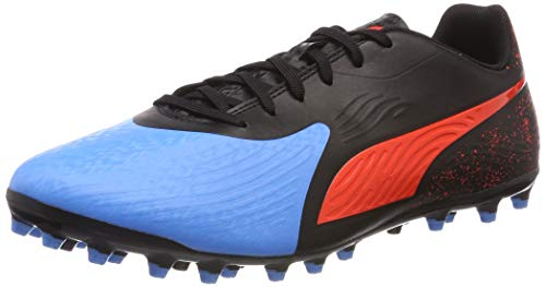 Puma One 19.4 MG, Scarpe da Calcio Uomo, Blu (Bleu Azur-Red Blast Black), 41 EU