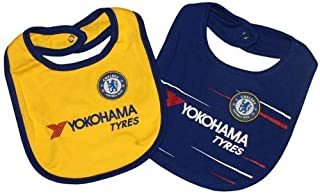 Chelsea FC - Authentic EPL Baby Bibs 2 Pack, Blue,yellow