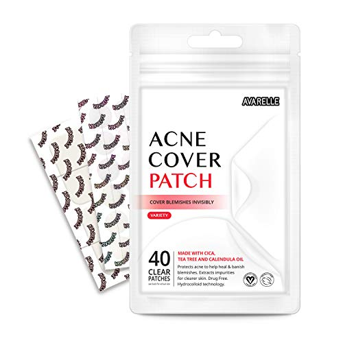 Avarelle Pimple Patches Hydrocolloid, Tea Tree, Calendula Oil, CICA (40 VARIETY PATCHES)