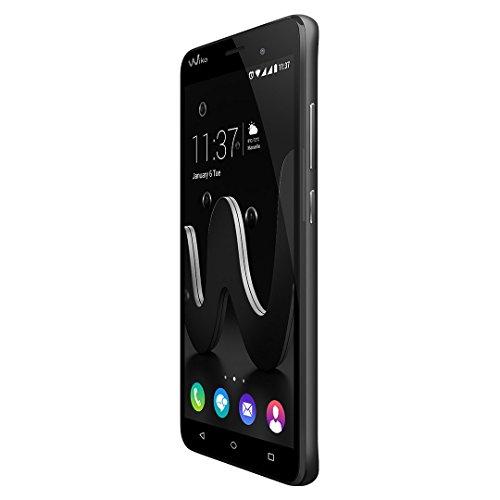 Wiko 9688 Jerry Smartphone mit 5 Zoll Display und 16GB interner Speicher und 1GB RAM Android 6.0   Schwarz-grau