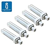Pack 5 Bombillas Aigostar 183646 LED PLC 2U 12W Bombilla LED Maiz G24 6400K [Clase de eficiencia energética A+]