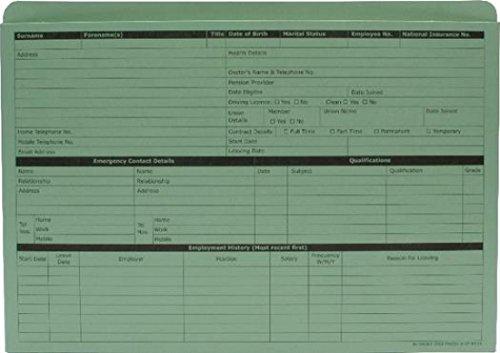 Sigma Personal Wallet - Formularios para Recursos Humanos, verde (50 unidades), verde