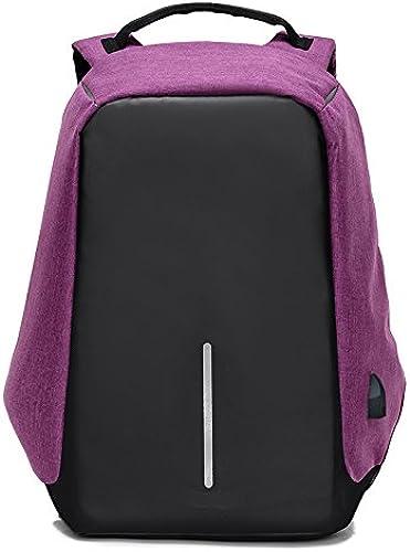 HXG Laptop-Rucksack 17-Zoll-WasserabWeißnde Reisetasche Mode L ig H ler Leichte M er und Frauen Rucksack Größe Kapazit Polyester mit USB-Ladeanschluss