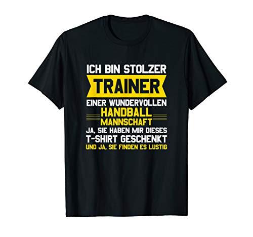 Handball Trainer Bester Coach Handballer Verein Geschenk T-Shirt