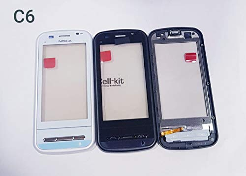 Touch Screen Digitizer for Nokia C6 with Frame Black